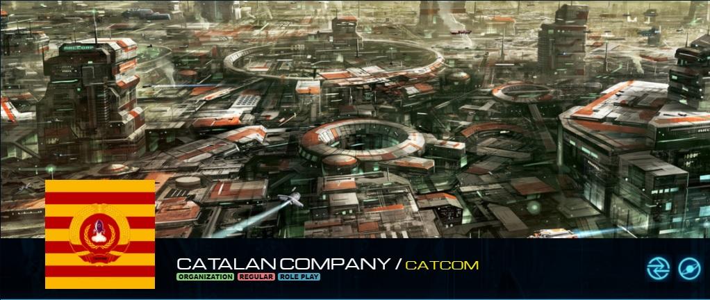 Imatge d'Star Citizen amb el logotip de CATCOM