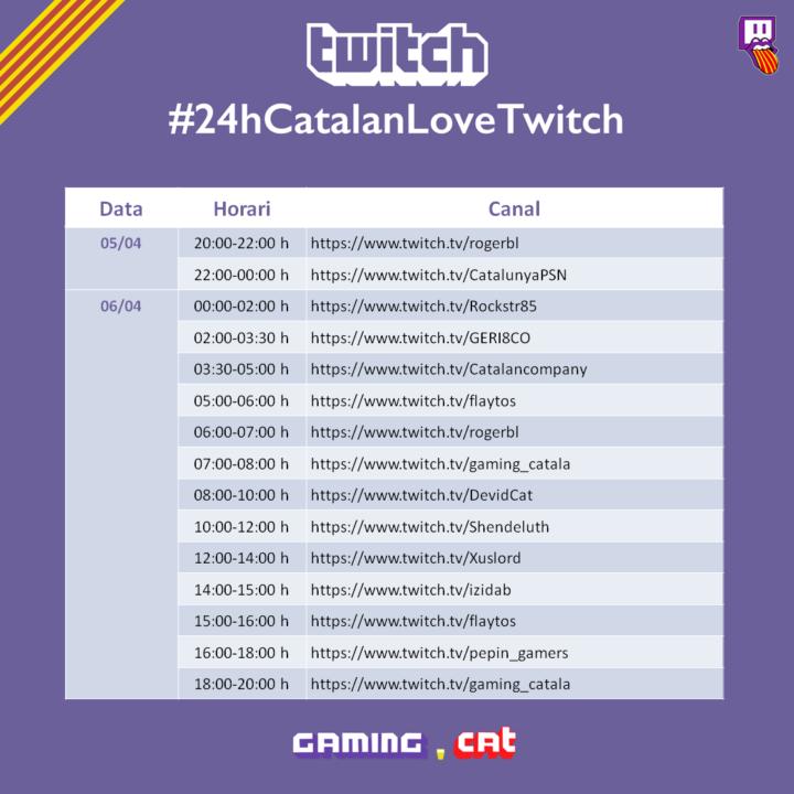 Escaleta 24 h Twitch en català
