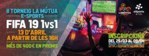 Jugues a FIFA19? Últims dies per inscriure't al II Torneig La Mútua eSports!