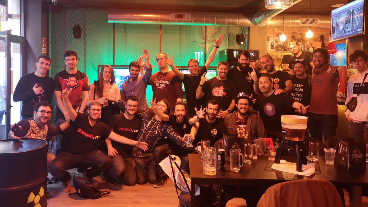 Foto dels assistents a la trobada de la comunitat al Meltdown Barcelona