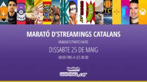 Una nova marató de directes en català, dissabte 25 de maig! #MaratoTwitchaire