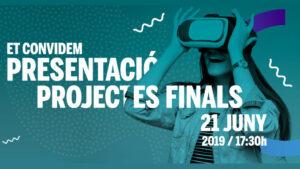 Presentació de Projectes Finals CEV