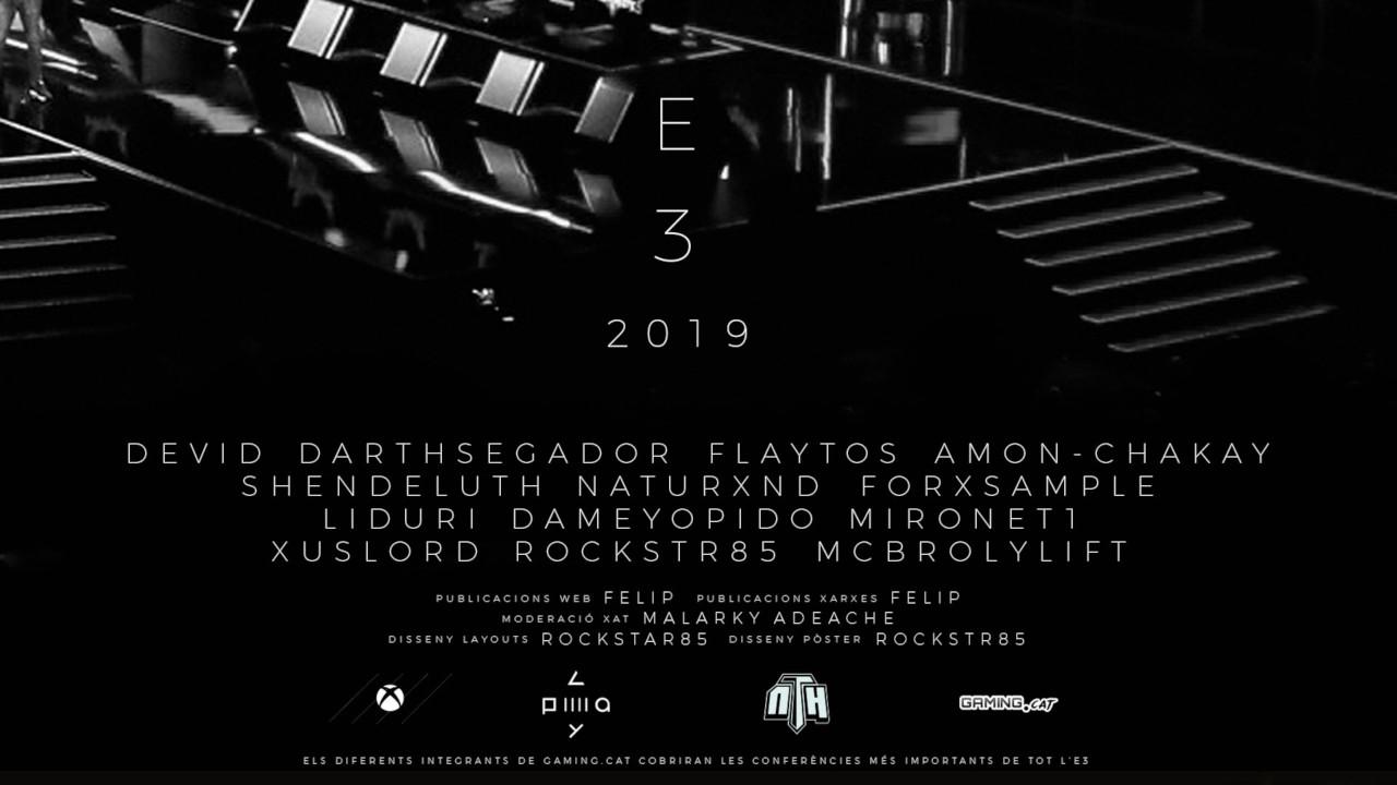 Caràtula de les conferències de l'E3 2019 en català