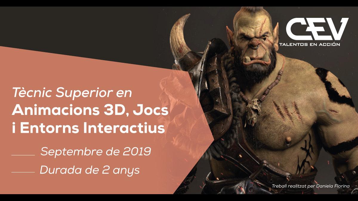 Creativitat del curs de Tècnic Superior en Animacions 3D, Jocs i Entorns Interactius