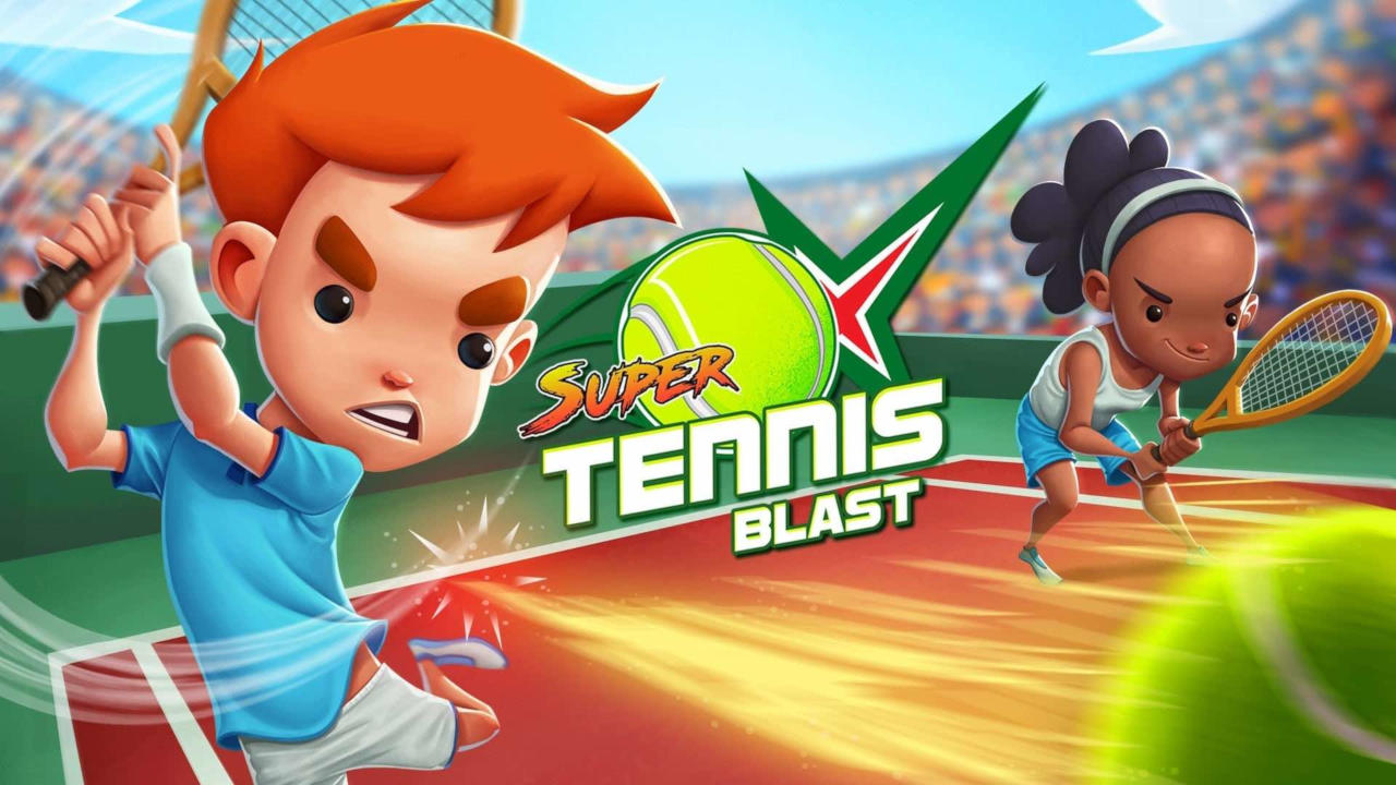 Portada del videojocd Super Tennis Blast