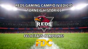 Reds Gaming guanya el seu segon Torneig dels Històrics de Futbol Digital Català