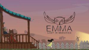 Portada del videojoc en català Emma, Lost in memories