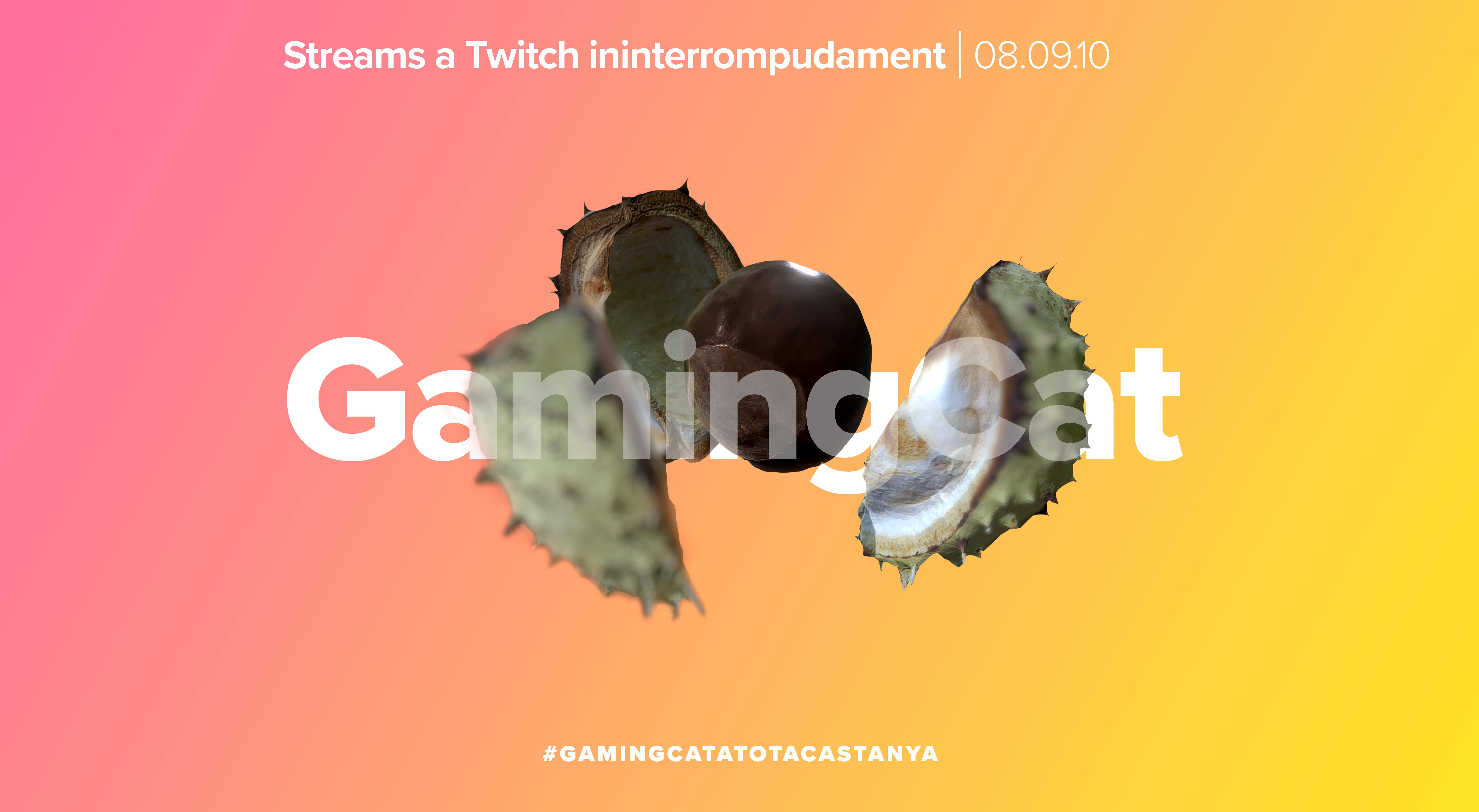 """Cartell de l'esdeveniment """"Gaming.cat a tota castanya"""""""