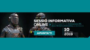 Sessió informativa sobre el curs de Tècnic Superior en Animacions 3D, Jocs i Entorns Interactius