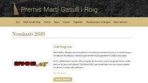 Gaming.cat, nominada als premis Martí Gasull
