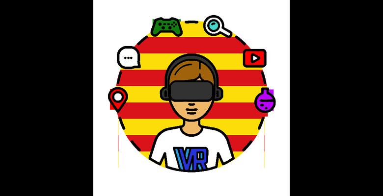 Logotip de la comunitat de realitat virtual VR Catalans