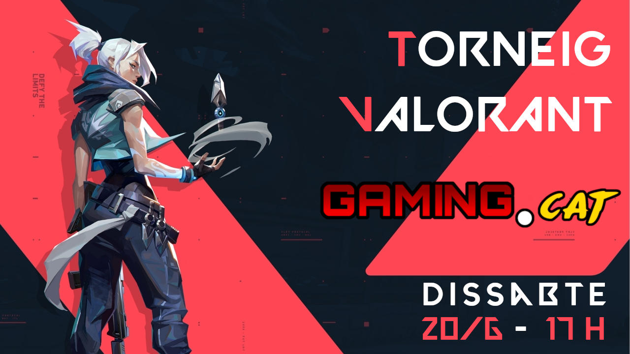 Cartell del 1r Torneig Valorant Gaming.cat