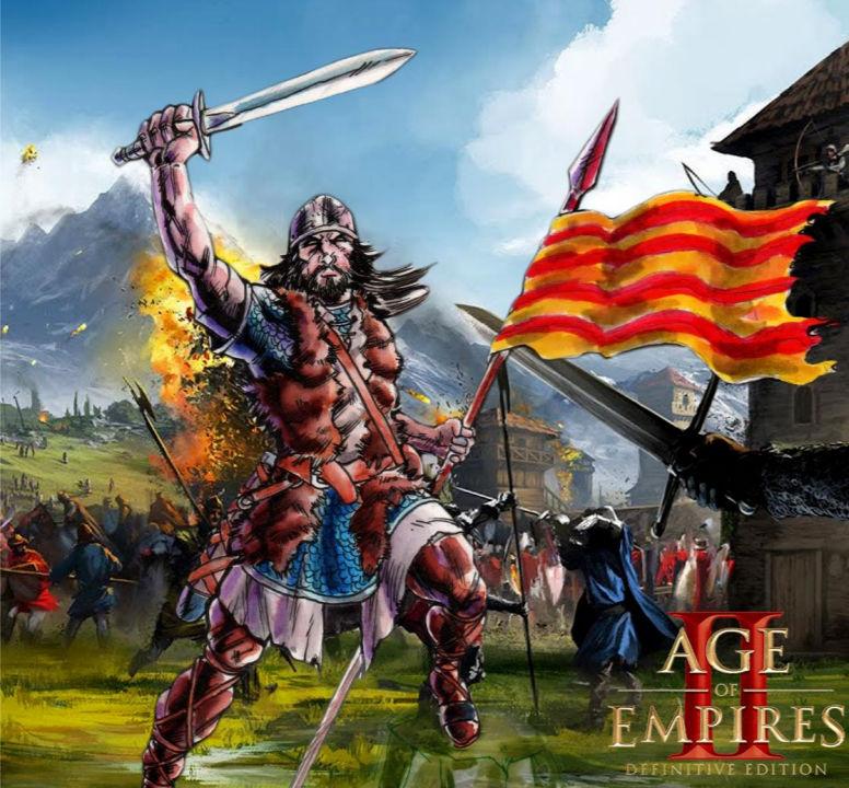 Cartell de la 1a lliga catalana d'Age of Empires 2